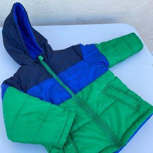 Carter's Size 5/6 M Polyester Blue Green Jacket
